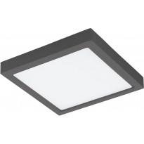 LED-Kattovalaisin Eglo Crosslink Argolis-C kulmikas, 22W, 300x300x35mm, IP44, musta, Verkkokaupan poistotuote