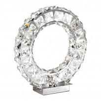Pöytävalaisin LED Toneria, kromi, kristalli