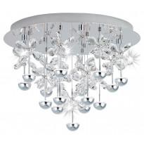 LED-Kattovalaisin Eglo Pianopoli, Ø500mm, kromi, kristalli 39245