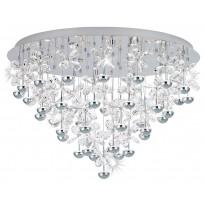 LED-Kattovalaisin Eglo Pianopoli, Ø780mm, kromi, kristalli 39246