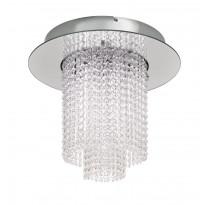 LED-kattovalaisin Eglo Vilalones, 10x4.3W, Ø500x420mm, IP20, himmennettävä, kromi
