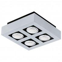 Kattovalaisin Loke LED 1, 4-osainen, alumiini/musta