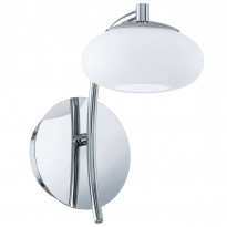 Seinävalaisin Aleandro LED, kromi/valkoinen