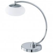 Pöytävalaisin Aleandro LED, kromi/valkoinen