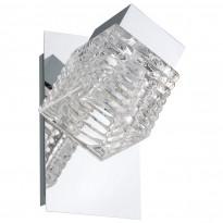 Seinävalaisin Quarto LED, kromi/lasi
