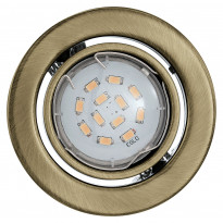 Upotettava spottivalaisin Igoa LED, Ø9cm, pronssi