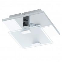 Plafondi LED Vicaro, kromi, valkoinen