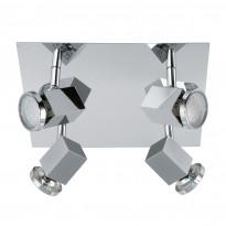 Kattovalaisin LED Zabella, 4-osainen, kromi
