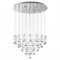 Riippuvalaisin LED Pianopoli, Ø78cm, kromi, kristalli