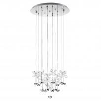 Riippuvalaisin LED Pianopoli, Ø50cm, kromi, kristalli