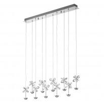Riippuvalaisin LED Pianopoli, 87cm, kromi, kristalli