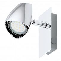 Seinävalaisin LED Corbera, 1x3W, kromi, keinukytkin