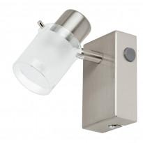 Seinävalaisin LED Orvieto 1, harjattu teräs, kirkas/valkoinen