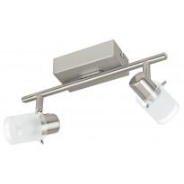 Tankovalaisin LED Orvieto 1, 2-osainen, harjattu teräs, kirkas/valkoinen