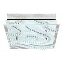 Plafondi LED Verdesca, valkoinen/kirkas/kristalli EGL93922