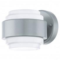 Seinävalaisin LED Lavoria, 2x2,5W, hopea/valkoinen