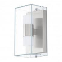 Seinävalaisin LED Benaco, 2x2,5W, ruostumaton teräs/kirkas/valkoinen