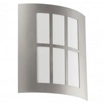 Seinävalaisin LED City, 1x3,7W, ruostumaton teräs/valkoinen