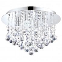 LED-kattovalaisin Eglo Almonte, 4x3W, Ø350x230mm, G9, IP44, himmennettävä, kromi/kirkas