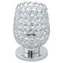 Pöytävalaisin Eglo Bonares 1, kromi, kristalli 94899