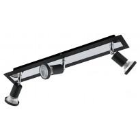 LED-kattospotti Eglo Sarria, 3-osainen, musta, kromi 94965
