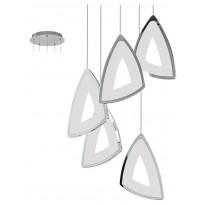 LED-riippuvalaisin Eglo Amonde, 5-osainen, kromi, valkoinen 95219