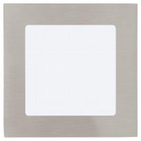LED-alasvalo Fueva 1, 120x120mm, 5,5W, teräs 95276