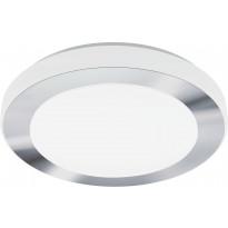 LED-plafondi Eglo Carpi, Ø385mm, valkoinen/kromi