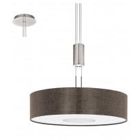 LED-riippuvalaisin Eglo Romao 2, Ø530mm, ruskea 95339