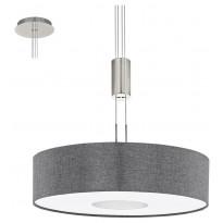 LED-riippuvalaisin Eglo Romao, Ø530mm, harmaa 95348
