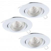Alasvalosarja Eglo Tedo 1, 3x5W LED, Ø80mm, valkoinen, himmennettävä 95357