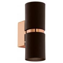 LED-seinävalaisin Eglo Passa, 60x170mm, ruskea, kupari 95371