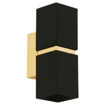LED-seinävalaisin Eglo Passa, 55x170mm, musta, kulta 95373