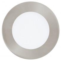 LED-alasvalo Fueva 1, Ø120mm, 5,5W, teräs 95467