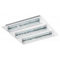 LED-Kattovalaisin Eglo Cardito-S, 470x470mm, kromi, kristalli, himmennettävä 95489