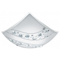 LED-plafondi Eglo Nerini 340x340mm, valkoinen, kristalli 95578