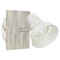 LED-seinäspotti Eglo Filipina 1, 120x120mm, teräs, patinoitu valkoinen 95642