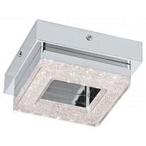 LED-katto-/seinävalaisin Eglo Fradelo, 120x120mm, kromi, kristalli 95655