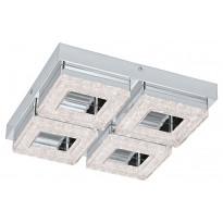 LED-katto-/seinävalaisin Eglo Fradelo, 280x280mm, 4-osainen, kromi, kristalli 95657