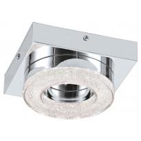 LED-katto-/seinävalaisin Eglo Fradelo, 120x120mm, kromi, kristalli 95662
