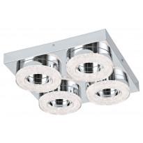 LED-katto-/seinävalaisin Eglo Fradelo, 280x280mm, 4-osainen, kromi, kristalli 95664
