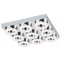 LED-katto-/seinävalaisin Eglo Fradelo, 440x440mm, 9-osainen, kromi, kristalli 95665