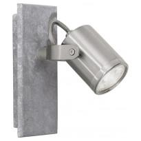 LED-seinäspotti Eglo Praceta, teräs, harmaa 95741