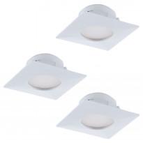 LED-alasvalosarja Eglo Pineda 3x6W, 78x78mm, valkoinen 95801