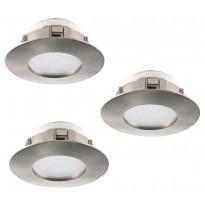 LED-alasvalosarja Eglo Pineda 3x6W, Ø78mm, teräs 95809