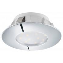 LED-alasvalo Eglo Pineda 6W, Ø78mm, kromi, himmennettävä 95812