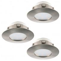 LED-alasvalosarja Eglo 3x6W, Ø78mm, teräs, himmennettävä 95816