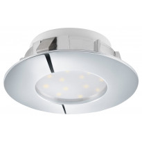 LED-alasvalo Eglo Pineda 6W, Ø78mm, IP44, kromi 95818