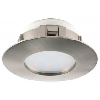 LED-alasvalo Eglo Pineda 6W, Ø78mm, IP44, teräs 95819
