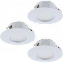 LED-alasvalosarja Eglo 3x6W, Ø78mm, IP44, valkoinen 95821